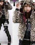 Kurtka panterka punk japan style leopard jacket...