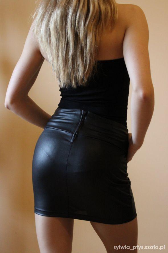 Spódnice Stradivarius Skórzana Bandage