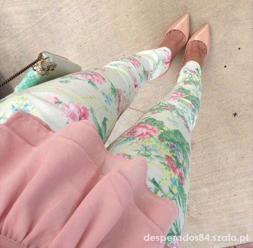 legginsy kwiaty