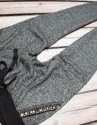 Spodnie dresowe szare zip pikowane