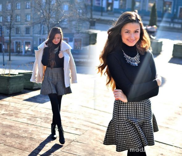 Blogerek Black turtleneck