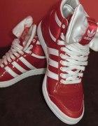 adidas czerwono białe
