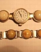 Bransoletka i zegarek z bursztynem