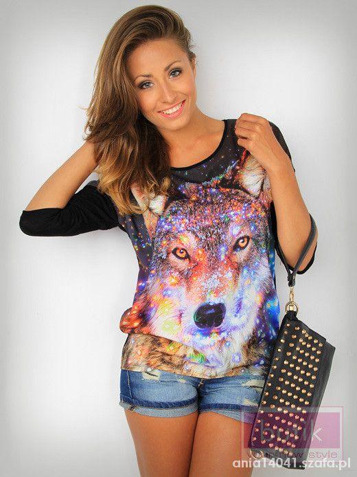Ubrania bluzka butik z wilkiem poszukuje