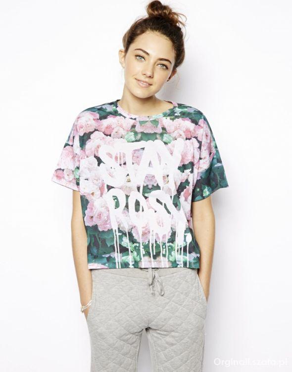 Ubrania Bluzka w róże Stay Rosy