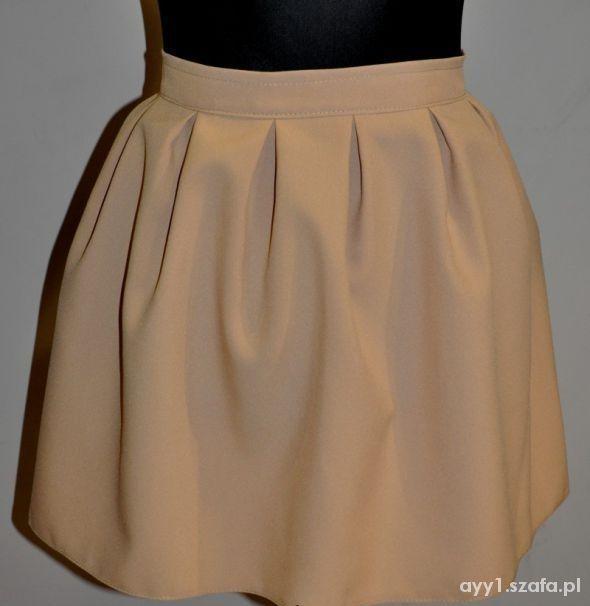 Nowa beżowa spódnica kloszowana