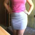 NOWA szara bandażowa AMISU spódniczka mini
