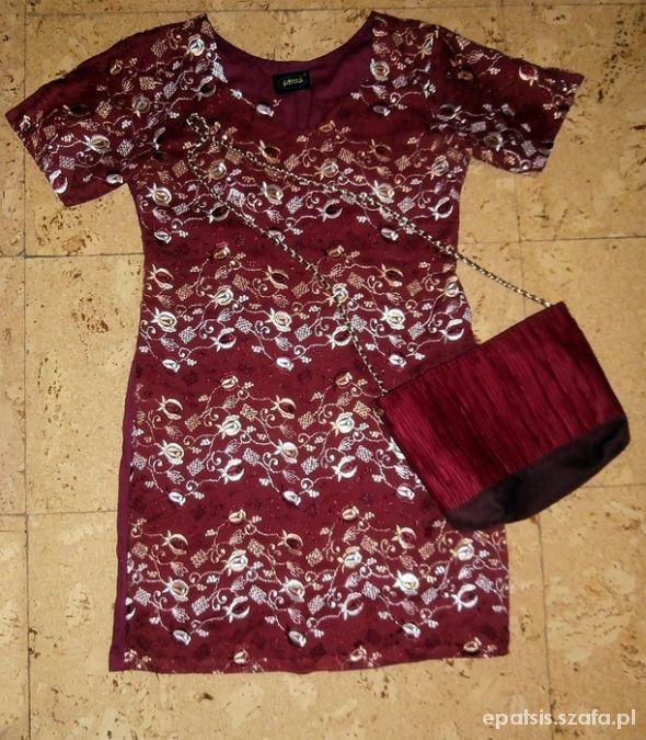Ubrania sukienka haftowana