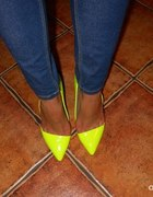 Szpilki Yellow Neon