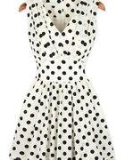 sukienka w kropeczki taliowana sheinside