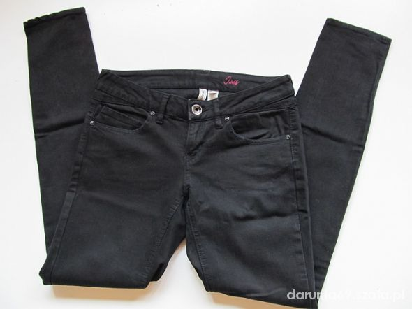 MANGO czarne rurki jeansowe M 38