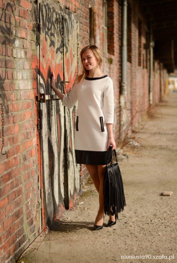 Mój styl Black & White dress