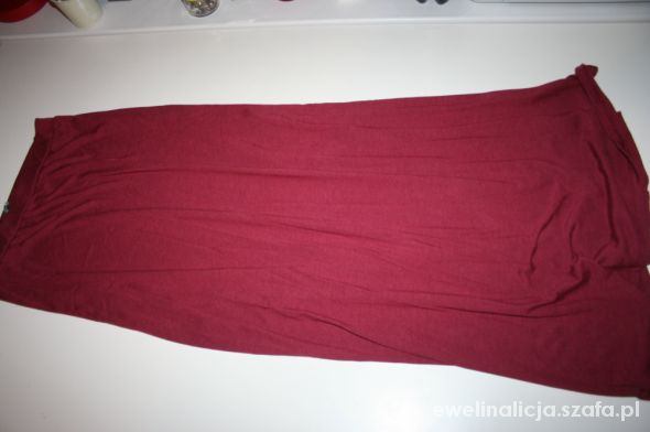 długa czerwona spódnica river island M L
