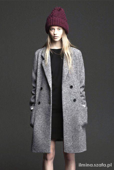 Czarny lub szary płaszcz Zara