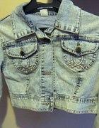 jeansowa kurteczka marmurkowa