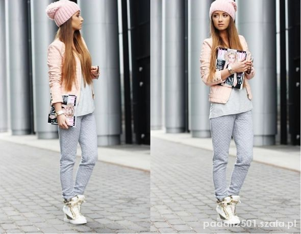 Blogerek grey and pink