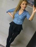 Baskina i koszula jeansowa