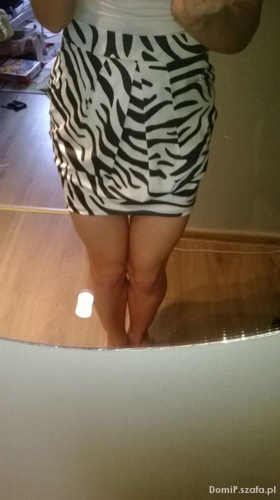 Spódnice Spódnica Amisu M zebra