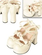 Bodyline shoes160 buty lolita białe...