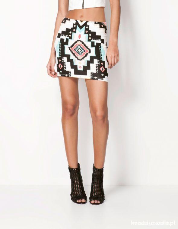 Spódnice Spódniczka Bershka Aztec