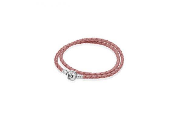 Podwójna różowa bransoletka PANDORA