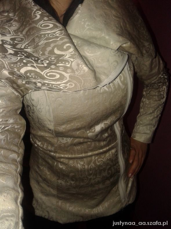 Eleganckie MOJE WYKONANIE dłuższa kurtka płaszczyk ramoneska