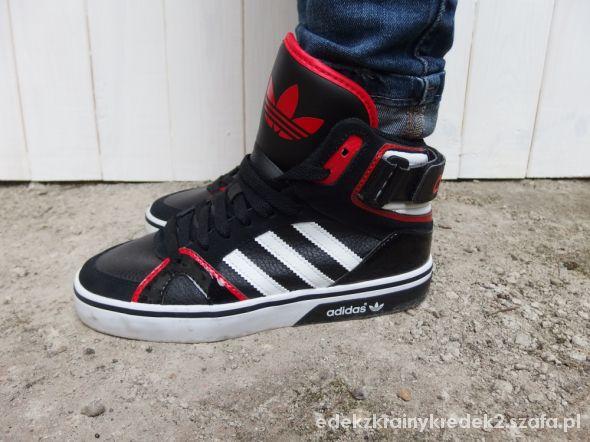 adidas czerwone za kostkę