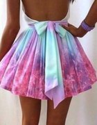 sukienka rozkloszowana ombre