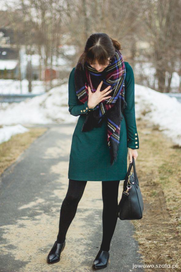 Codzienne Zielona sukienka Zara