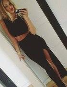 suknia spódnica komplet czarna seksowna