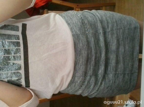 Spódnice szara mini s cropp