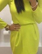 sukienka limonka neonowa h&m