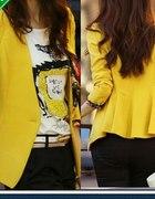 Elegancki Żakiet kolor żółty