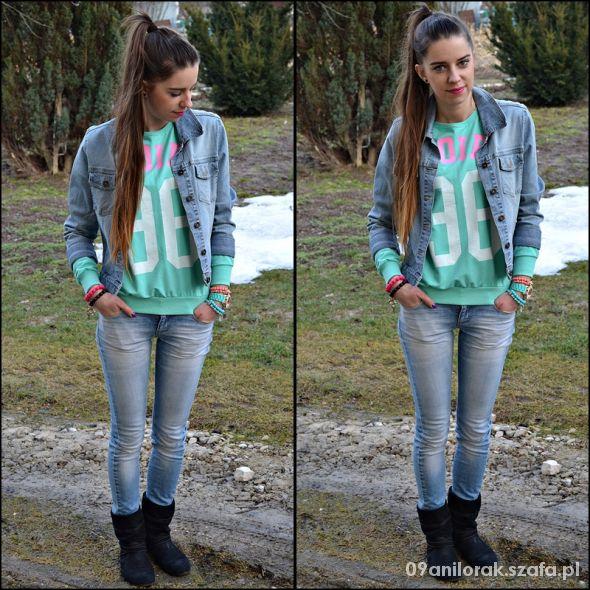 Blogerek Miętowa bluza