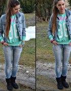 Miętowa bluza