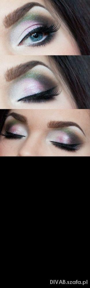 Makijaż Mocny kolor...