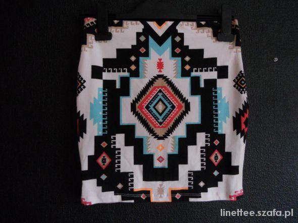 Spódnice Spódniczka aztec bershka