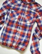 Koszula W Kratę Z Kieszonkami