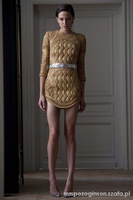 Wieczorowe Cudowna złota sukienka mini