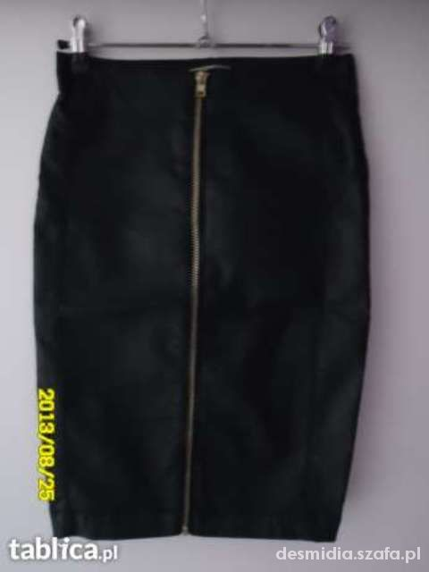 Spódnice stradivarius skora zipp 34 xs spodnica olowkowa
