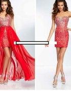 Sukienka z odpinaną spódnicą