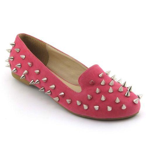 Loafersy pink studded