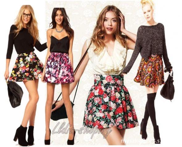 Mój styl Spódniczki rozkloszowane i sukienki kolorowe