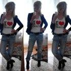 boyfriend jeans black&white