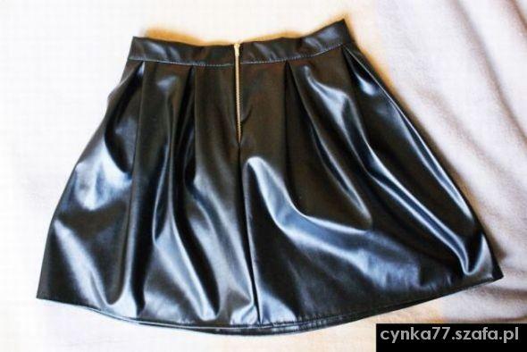 Spódnice spódniczka plisowana z eco skórki