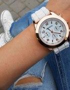 Zegarek Geneva Miętowy Biały Czarny Kolory