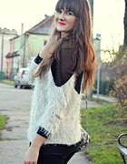 sweterek włochaty