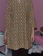 sukienka tunika boho etno hippie wzorzysta