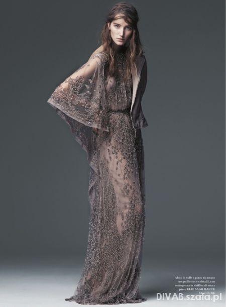 ELIE SAAB suknia z koronki...