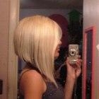 bob na długich włosach